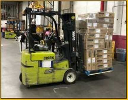 3 Wheels Electric Clark Forklifts TMX15S